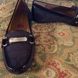 Coach 8.5 black loafers flats shoes FELISHA